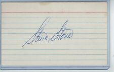 STEVE STONE INDEX CARD SIGNED 1980 CY YOUNG BALTIMORE ORIOLES PSA/DNA CERTIFIED