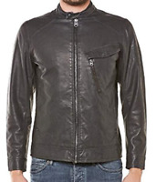 Gstar Revend 3D Slim Faux Leather Jacket Full Zip Bomber Mens UK Size M *REF154