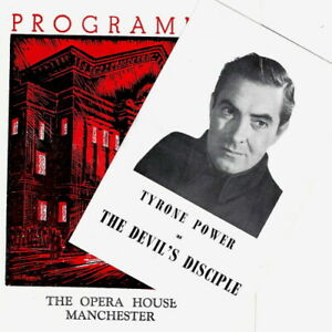 1956 FLYER & theatre programme Tyrone Power Devil's Disciple Manchester Op House