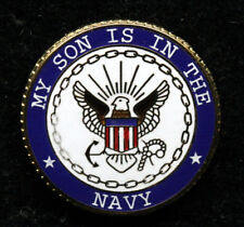 MY SON IS IN THE US NAVY HAT PIN USN USS MOM DAD STEP BOOT CAMP NTC GRADUATION