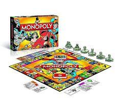 NUOVA EDIZIONE DC COMICS Retrò Monopoly Board Game-Brand New & Sealed! - GRATIS P&P
