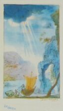 "SALVADOR DALI CELLINI ""THE BOAT"" HAND NUMBERED SIGNED ETCHING"