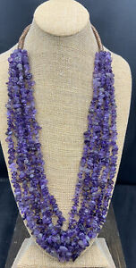 Barse Amethyst Waterfall Necklace- New with Tags