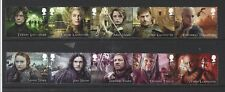 GREAT BRITAIN 2018 GAME OF THRONES SET OF 10 IN 2 STRIPS  FINE USED