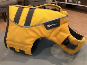"Ruffwear Float Coat Dog Life Jacket Safety Vest YELLOW Size Small 22-27"" Chest"