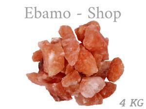 Salzstein Kristallsalz Sauna 4 KG Salzsole Saunasteine 3-12 cm Salz Chunks