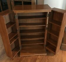 Solid Oak Media Storage Cabinet Mission $300 New