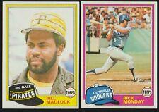 BUY 1, GET 1 FREE - 1981 TOPPS BASEBALL - YOU PICK #601 - #726 - NMMT