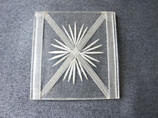 Vintage carved clear lucite large piece for jewelry, crafts making