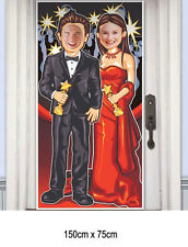 HOLLYWOOD RED CARPET MOVIE PHOTO DOOR DECORATION Plastic Party Door Cover 7048