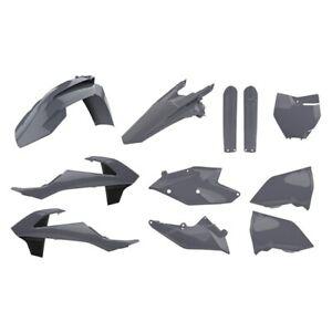 KTM SX SX-F 2016-2018 125 150 250 350 450 Polisport Plastics Kit - Grey - 90825