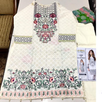 Baroque lawn Embroidered stitched suit salwar kameez for summer to clear £28