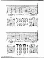 "RGS 30' Stock Cars ""Miller Cars"" Sn3 Model Railroad Water Slide Decal SJD501"