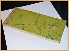 Green Crushed paper Cover Handmade Paper Eco Friendly Journal Diary from India