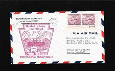 US Air Mail Experimental Pick-Up Route Dubois PA 1939 3c Plate Pair Cover 7v