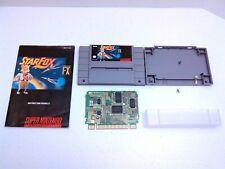 STARFOX Super Nintendo game cartridge + Book! Authentic Tested & Works
