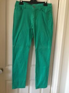 Ladies Green Skinny Jeans Size 12 - BNWOT