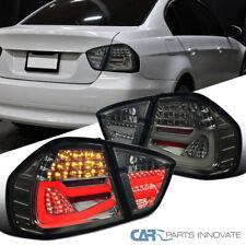 For 05-08 BMW E90 3 Series 4 Dr Sedan LED Tube Smoke Tail Tinted Brake Lamps