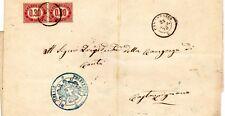 1875 lettera con coppia c.mi 30 servizio di stato - rara tariffa plurima