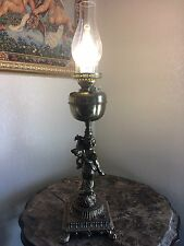 Vintage John Scott Oil Kerosene conversion Brass Electric Lamp /England