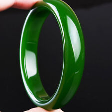 Natural Hetian green jade bangle hotan genuine jadeite chinese emerald woman