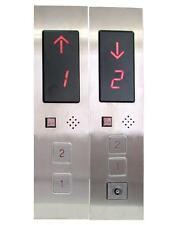 DC24V Elevator Hall Station Call Display Button Plate Box for 2-Floors