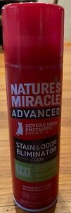Natures Miracle Advanced Cleaner Severe Mess 17.5 fl oz Cat Stains Odor Foam New