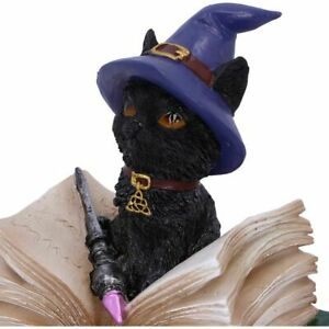 Binx Witches Black Cat Feline Figurine Kitten Trinket Box Ornament Coven Keeper