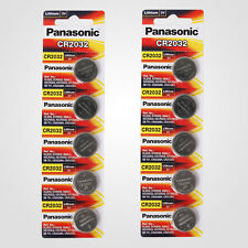 Panasonic CR2032 3V Lithium Battery 2PACK X (5PCS) =10 Single Use Batteries