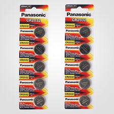 Panasonic CR2032 3V Lithium Battery 2PACK X (5PCS) =10 Single Use Batteries