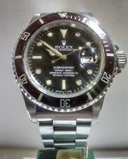 Rolex Submariner 16800 transizione tropical dial Big Crown