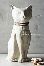 "New Anthropologie  ""CONTENTED CAT"" COOKIE JAR ~ Sold out!"