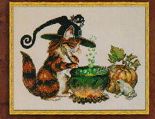 Le Charabosse - fantasy cat cross stitch chart - Nimue