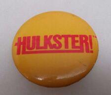 1985 Titan Sports Yellow HULKSTER! Lapel Pin Button Vintage Rare