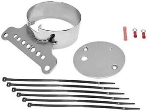 Bikers Choice 169387 Single Gauge Mount Kit (Chrome) 1995-2005 Harley XL, FXR