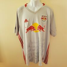 New Men's Adidas New York Red Bull Soccer Jersey 3XL Grey MLS 2019