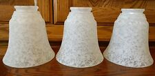 3 Three Frosted Slip Shade Ceiling Lamp Light Fixture Sconce Lot