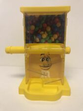 M&M's World Zig Zag Yellow Candy Dispenser New with Tags