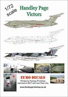 RAF Handley Page Victors 1/72 scale Euro Decals  ED-72100 water slide transfers