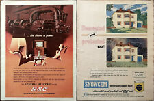 General Electric Company / Snowgem Waterproof Cement Paint Vintage Advert 1953