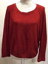 Zara Trafaluc Women Boatneck Oversize Width Slouchy Long Sleeve Sweater Size M