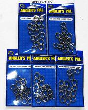 5 packs StainlessSteel Split Rings 100lbJigging, Big Game