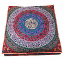 Indian Floral Mandala Cushion Cover Square Floor Pillow Large Sofa Bed Decor