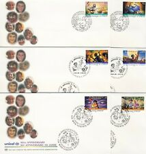 UN - NY+GEN+VIE . 1996 UNICEF, Fairy Tales . 6 First Day Covers