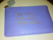 Make A Statement Zippered Tote Bag (Be You, Do You, For You)--Purple/Lavender
