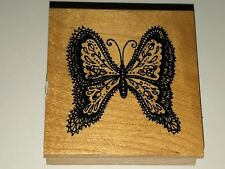 BUTTERFLY BEAUTIFUL Wood Mounted Rubber Stamp New Great Impressions F524