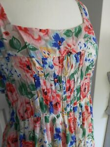CATH KIDSTON beautiful COTTON MAXI FLORAL LINED GARDEN PARTY 14