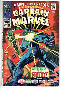 MARVEL SUPER-HEROES #13 (1968) - GRADE 4.5 - 1ST APPEARANCE CAROL DANVERS!