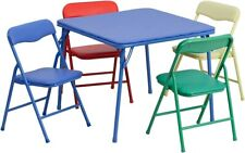 Flash Furniture Kids Colorful 5 Piece Folding Table and Chair Set