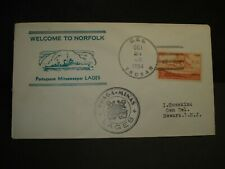 USS THUBAN AKA-19 Naval Cover 1954 PORTUGAL LAGES Cachet PORTUGUESE